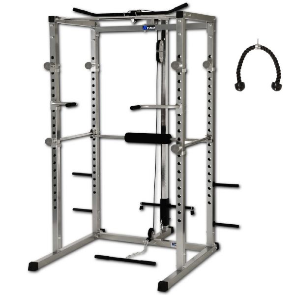 Ryno™ Ultimate Heavy Duty Power Rack - Silver/Black